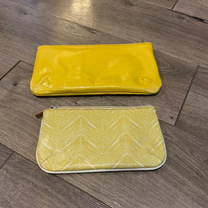 Fossil Set of 2 Yellow Zip Pouches